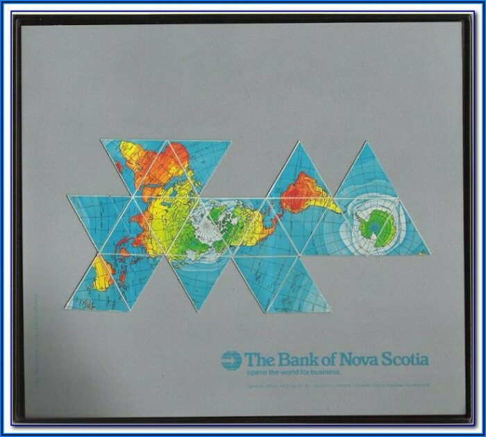 Dymaxion World Map Poster