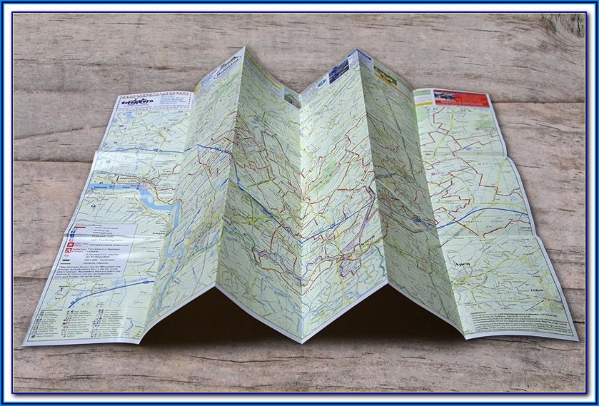 Folded Map Printing