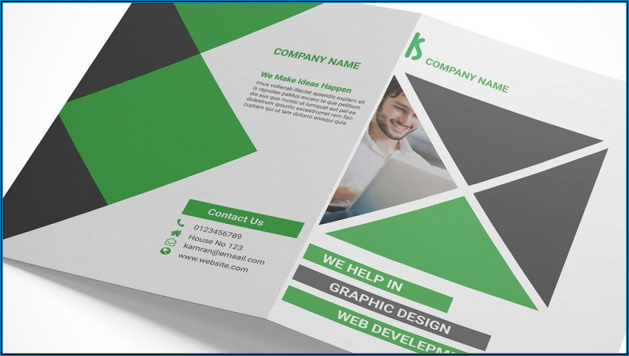 Four Fold Brochure Indesign Template