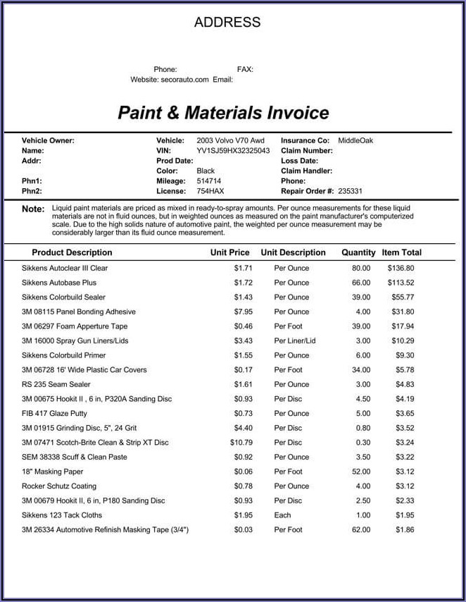 Free Editable Invoice Template Excel