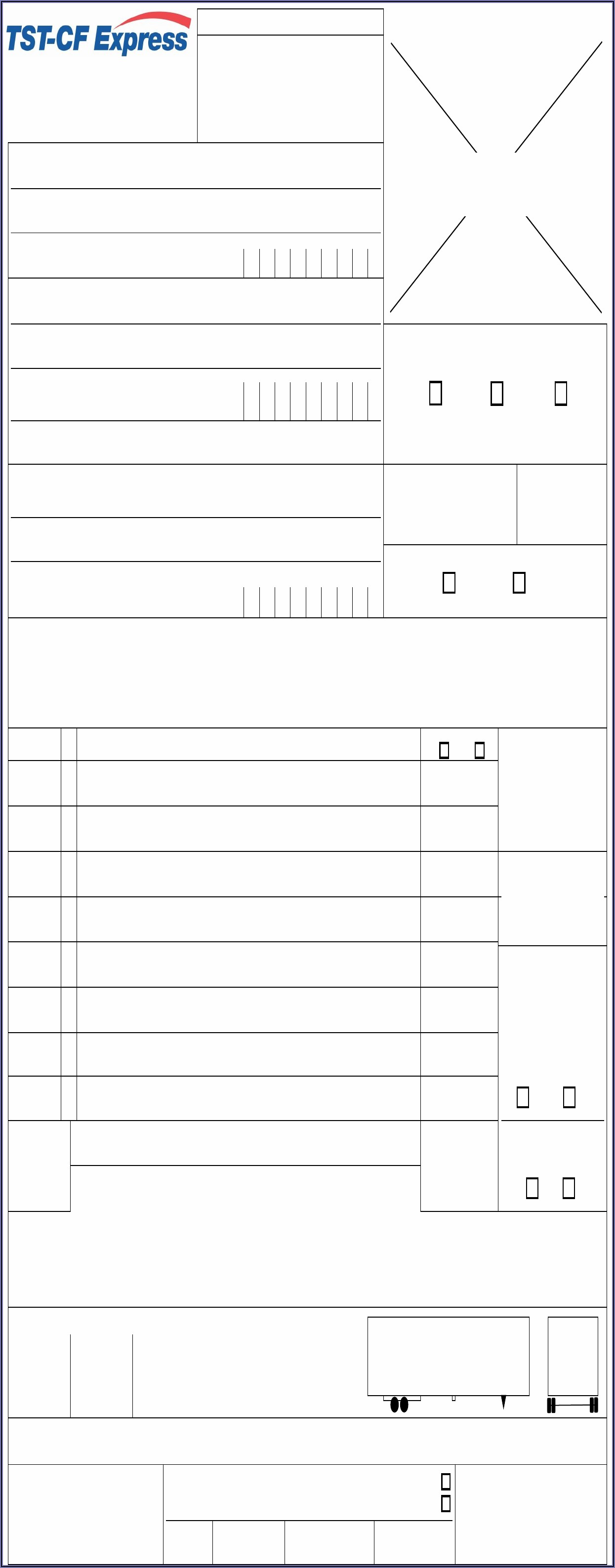 Free Fillable Bill Of Lading Form Pdf