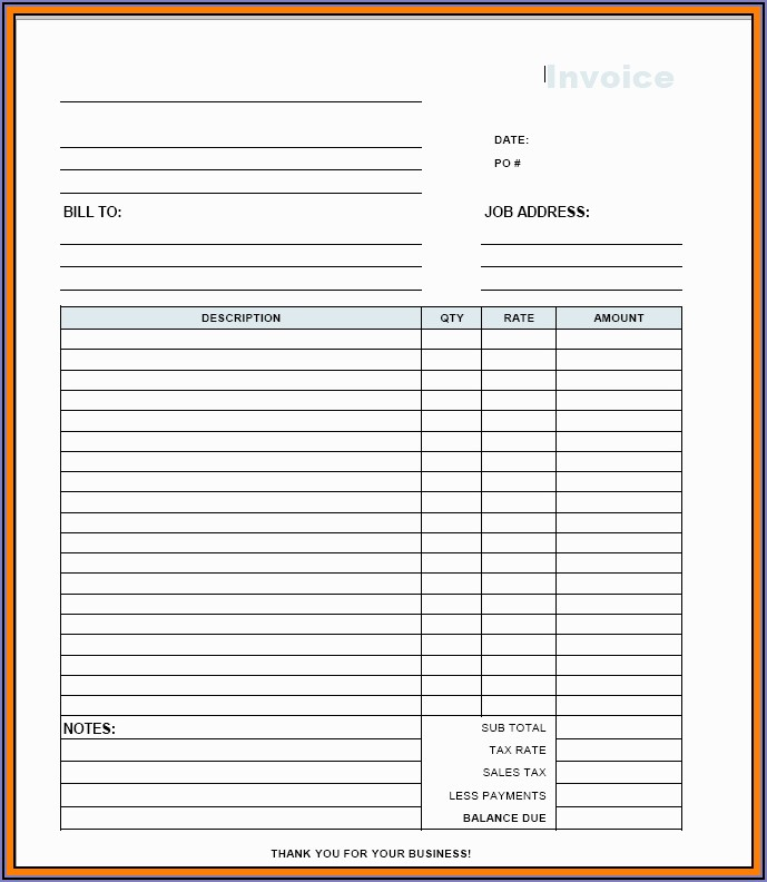Free Independent Contractor Invoice Template
