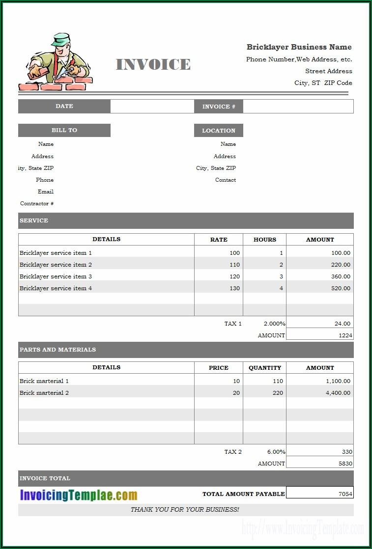 Free Massage Therapy Invoice Template