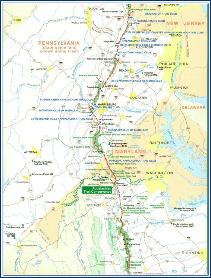 Free Printable Appalachian Trail Map