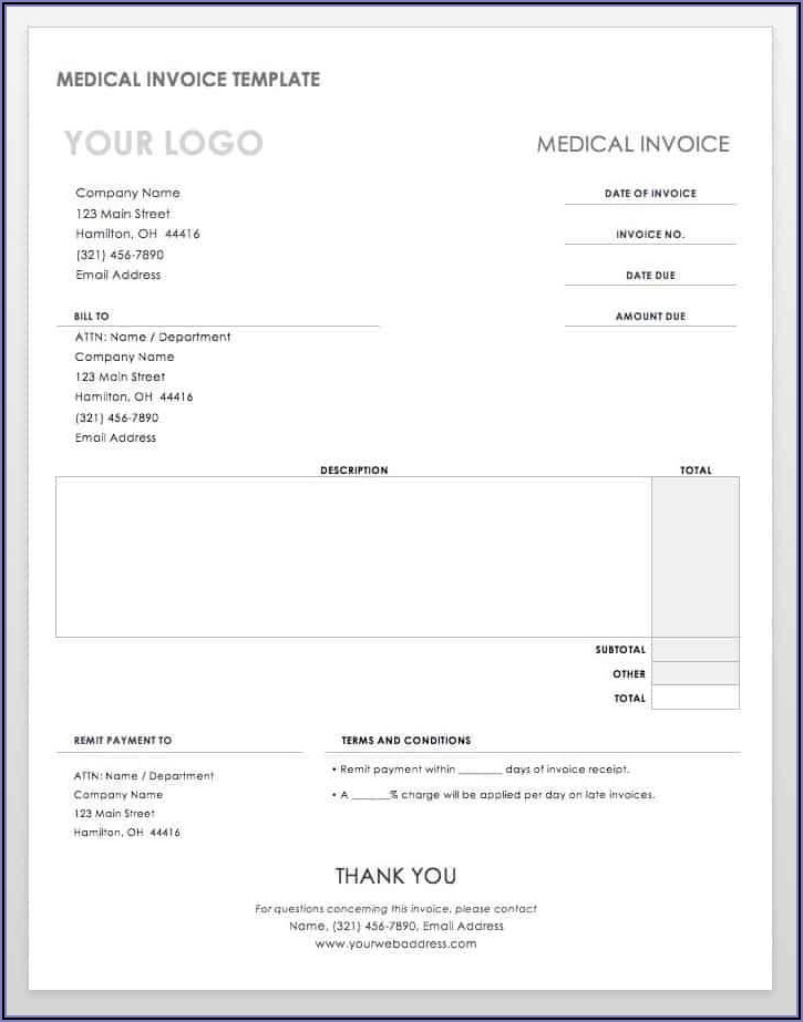 Freelance Invoice Template Word Doc