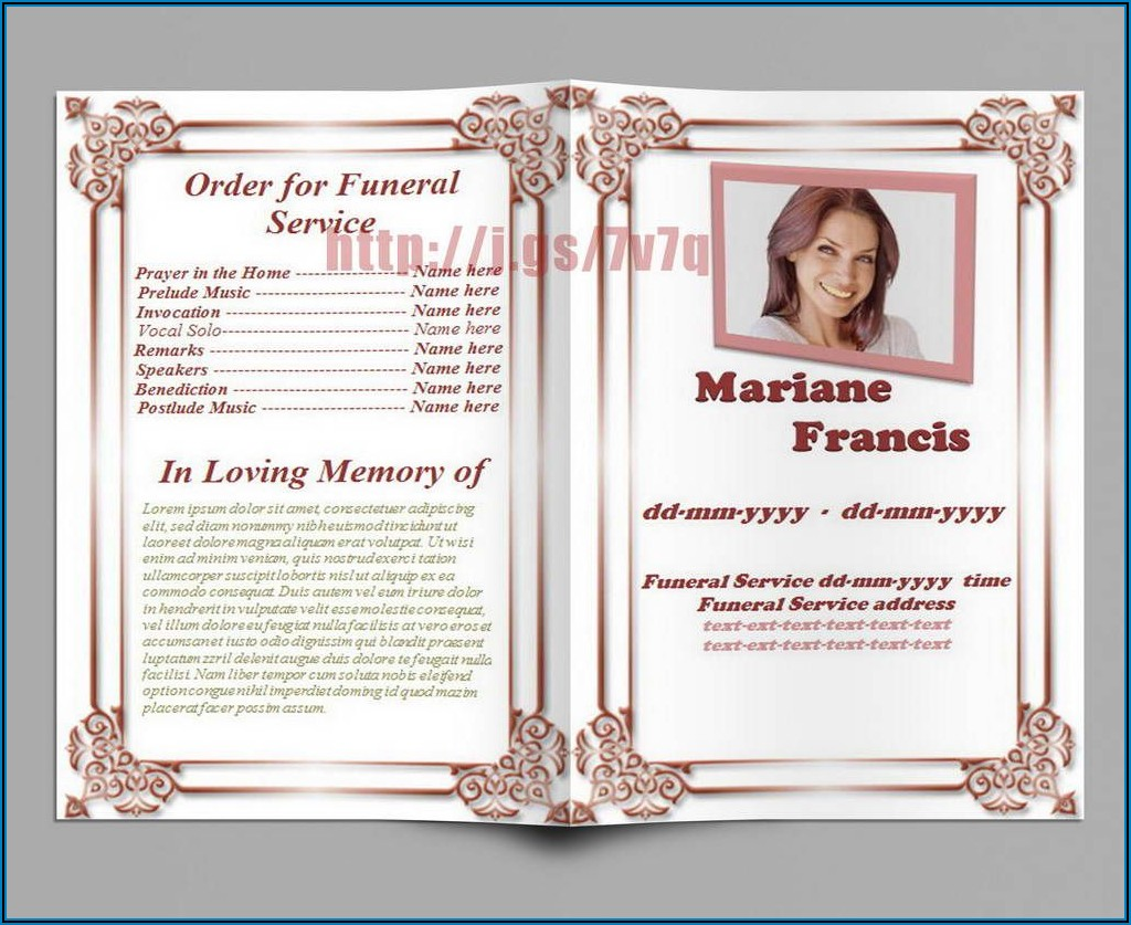 Funeral Brochure Templates Free Download