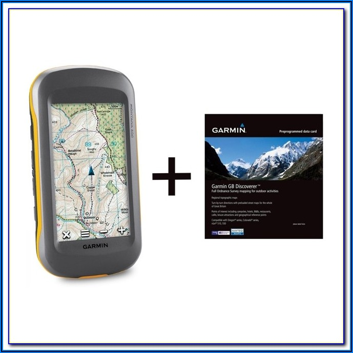 Garmin Montana 600 Road Maps