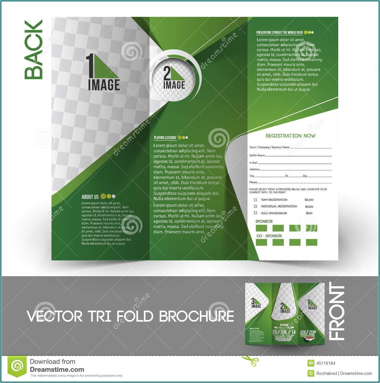 Golf Tournament Tri Fold Brochure Template Free
