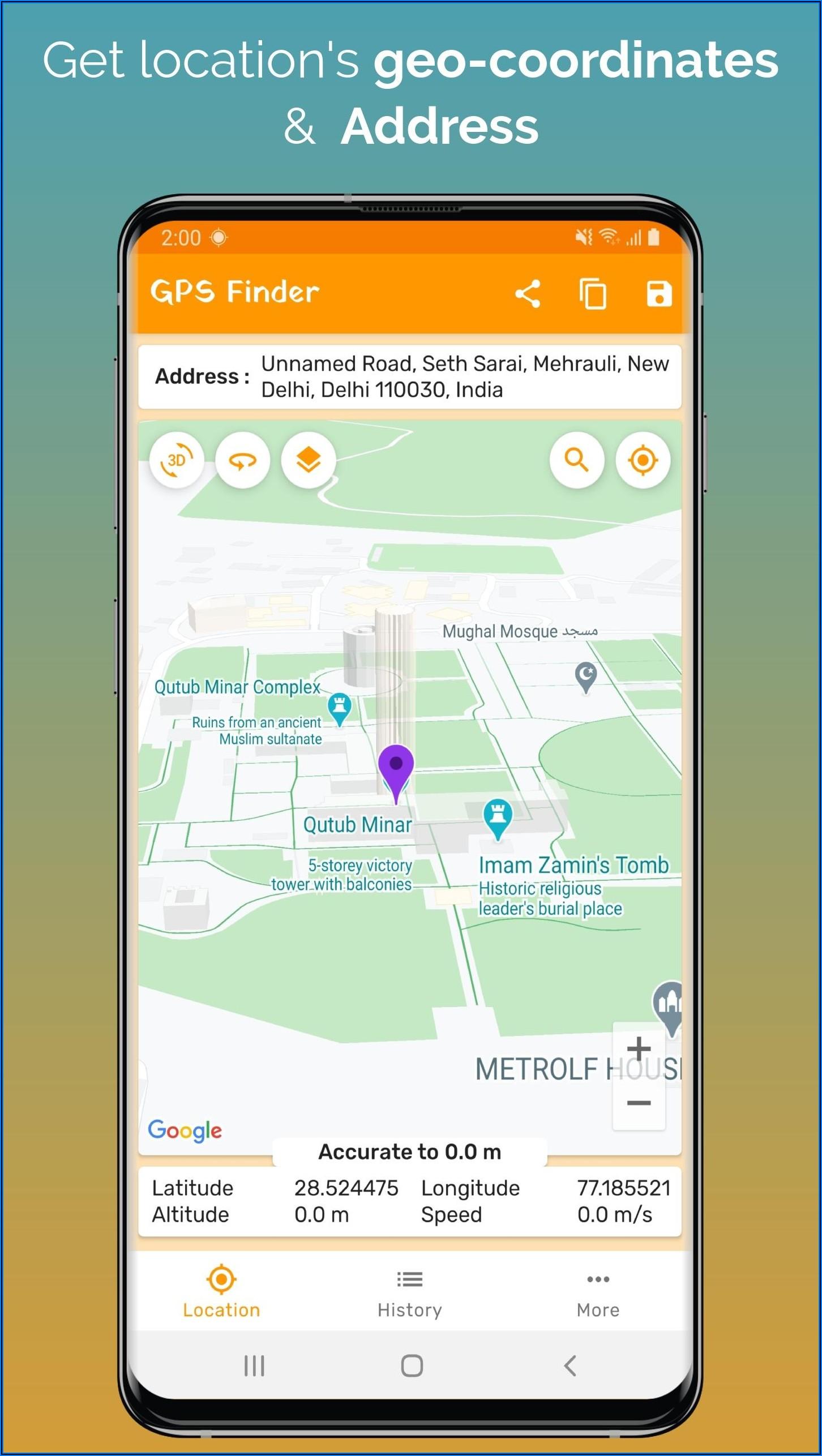 Gps Coordinate Locator Map