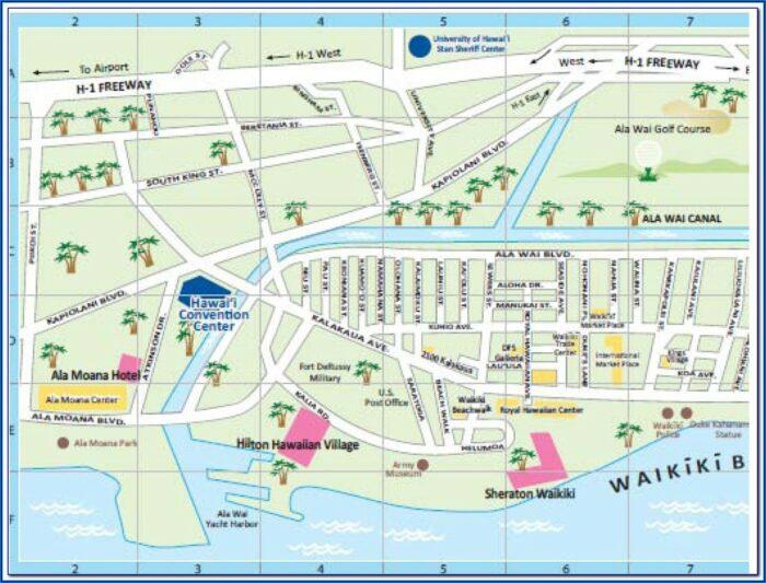 Hotels Near Sheraton Waikiki Map