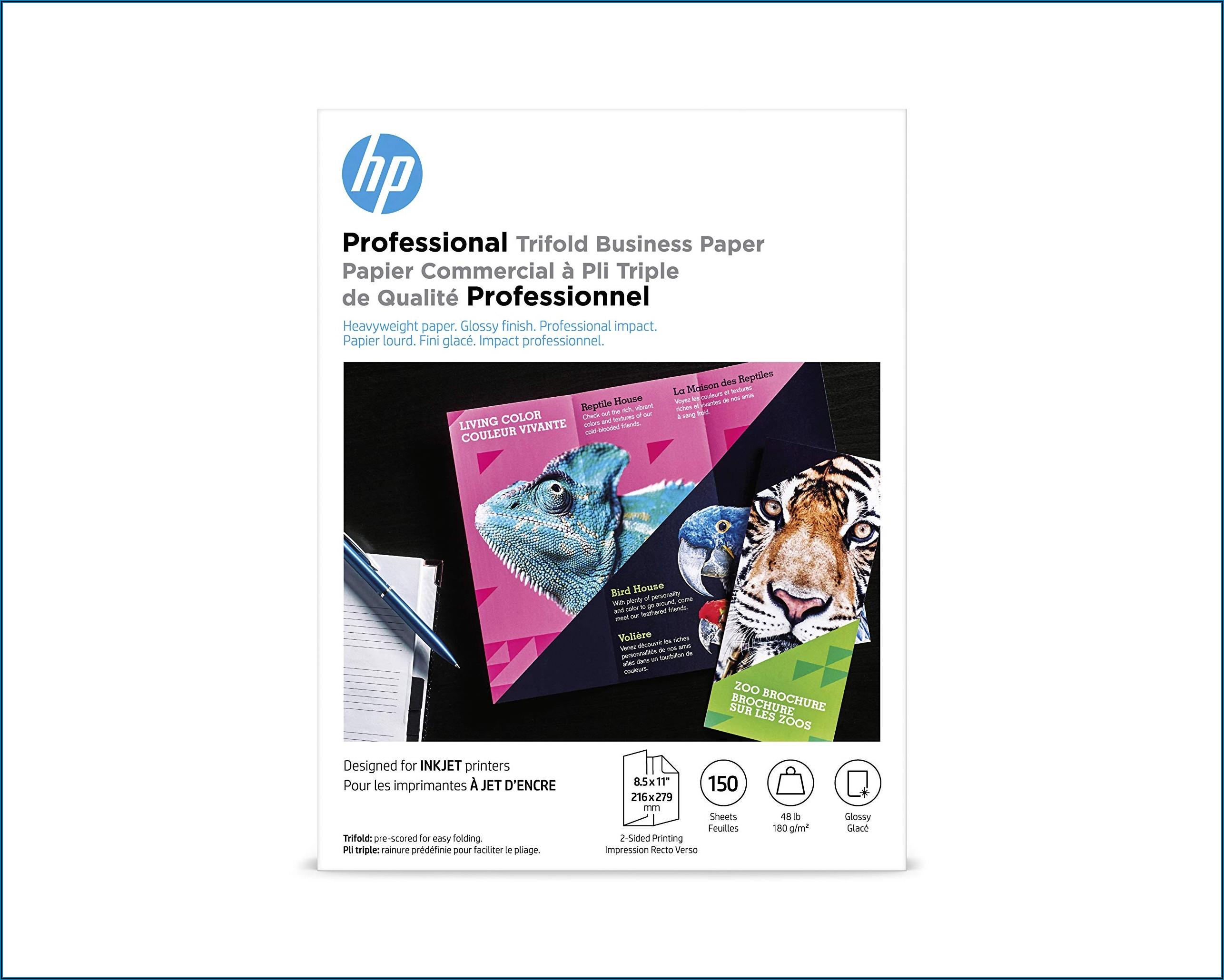 Hp Inkjet Glossy Brochure Paper