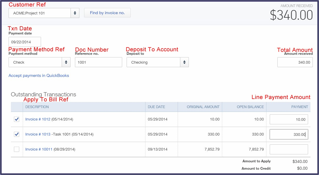 Import Payments Into Quickbooks Online