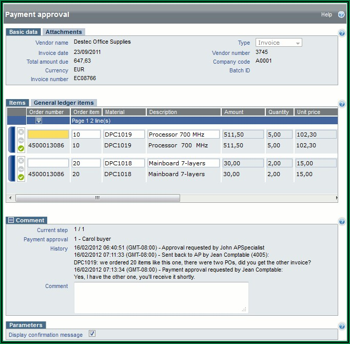 Invoice Approval Workflow In Sap