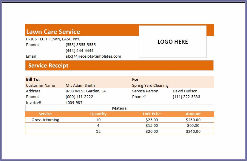 Invoice For Handyman Services