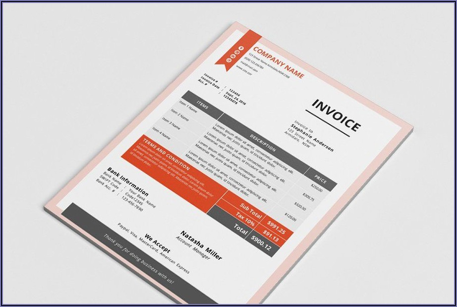 Invoice Template Word Docx