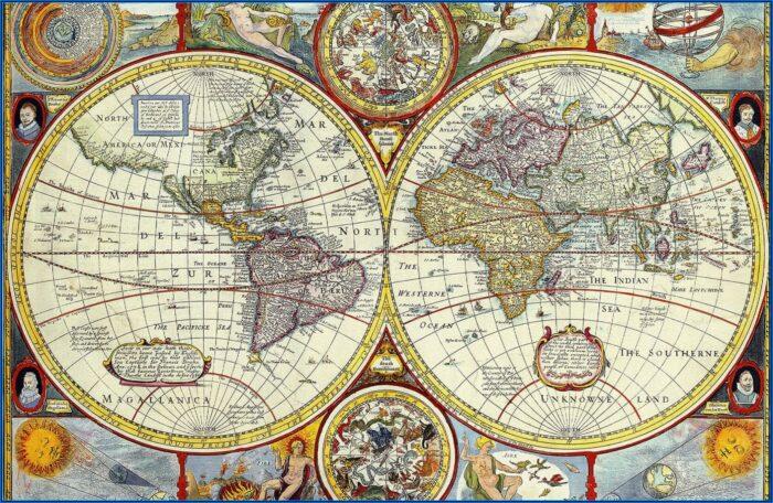 Large World Map Wallpaper
