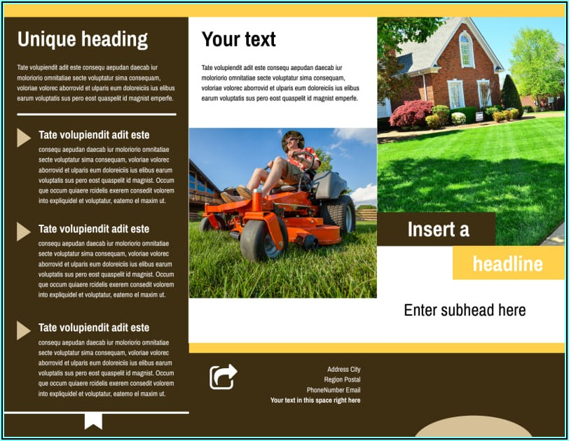Lawn Care Brochure Templates