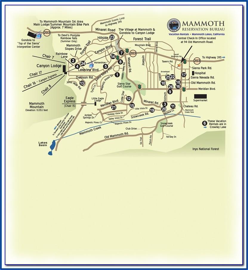 Mammoth Mountain Hotel Map