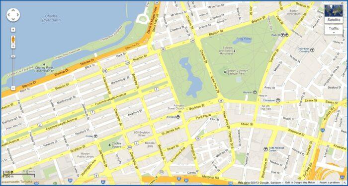 Map Copley Square Boston Ma