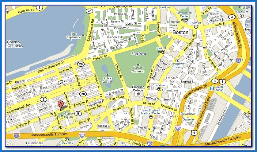 Map Copley Square Boston