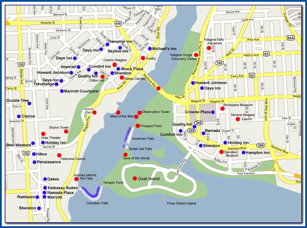 Map Of Hotels In Banff