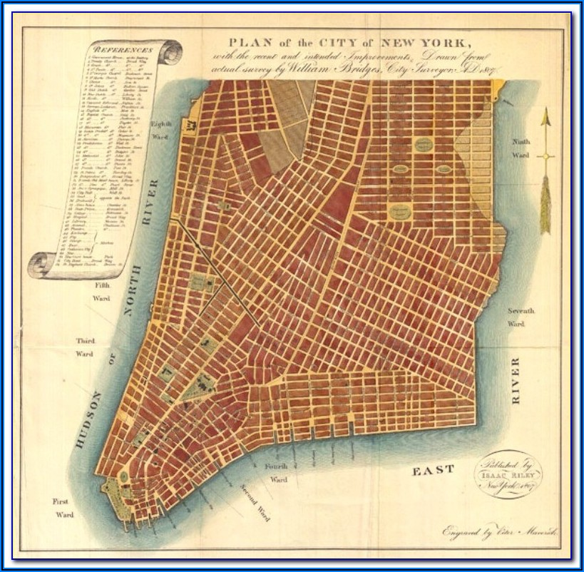 Map Of Nyc Manhattan Streets