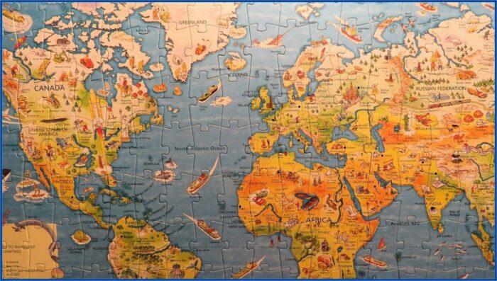 Map Of The World Jigsaw Puzzle Usborne