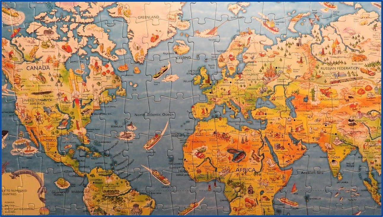 Map Of The World Jigsaw Puzzle Usborne