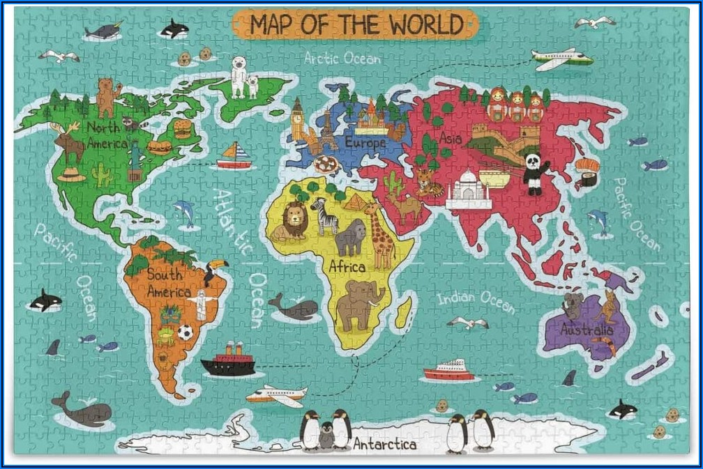 Map Of The World Jigsaw Puzzles Australia