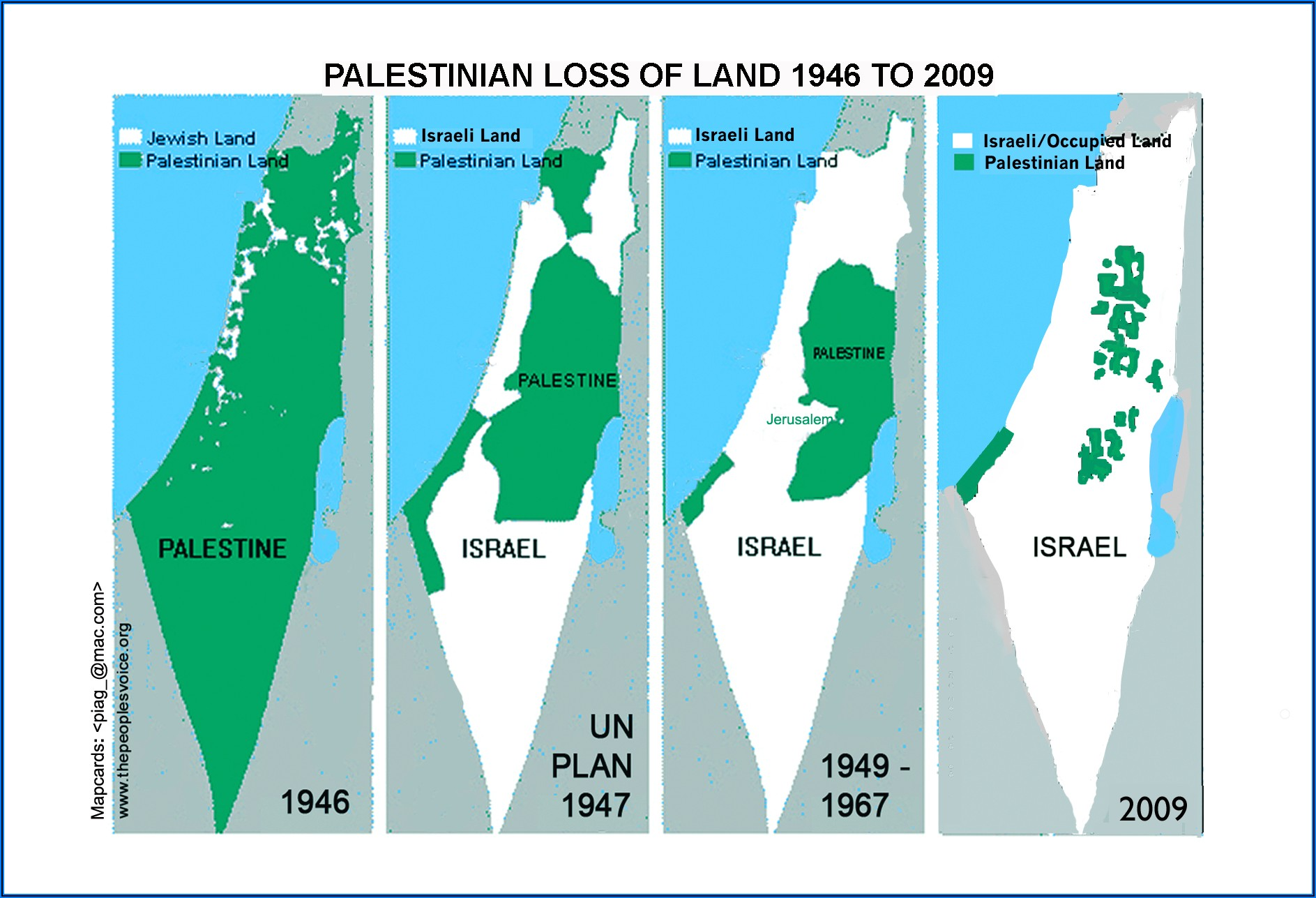Map Of Wall Between Israel And Palestine