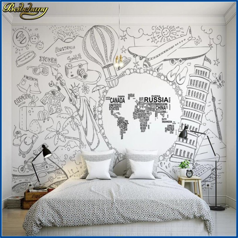 Map Wallpaper Mural