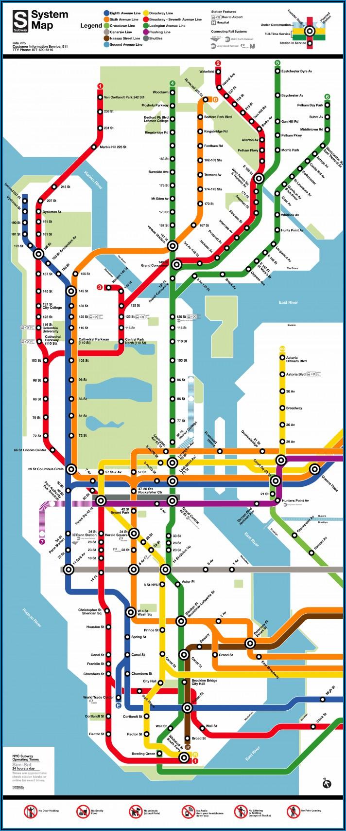 Maps Subways New York City