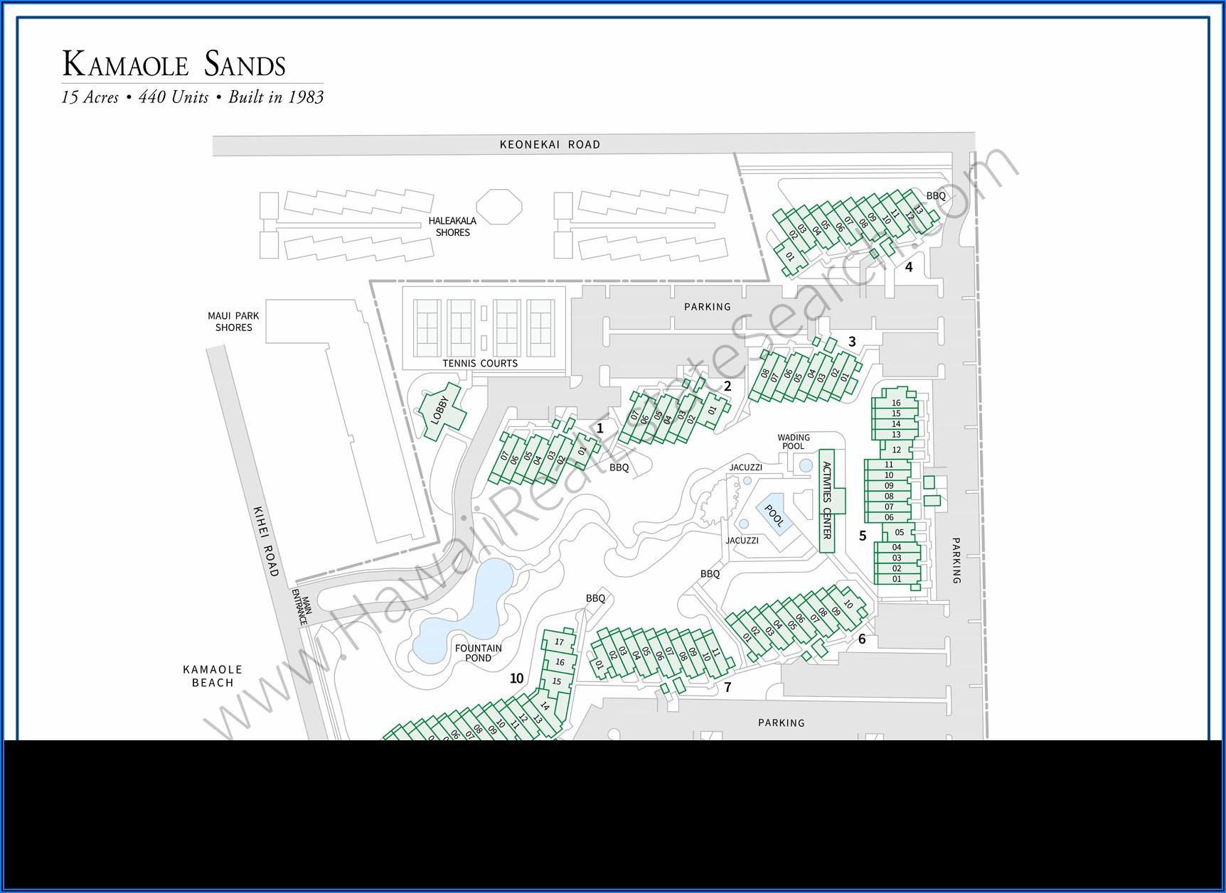 Maui Kamaole Sands Site Map