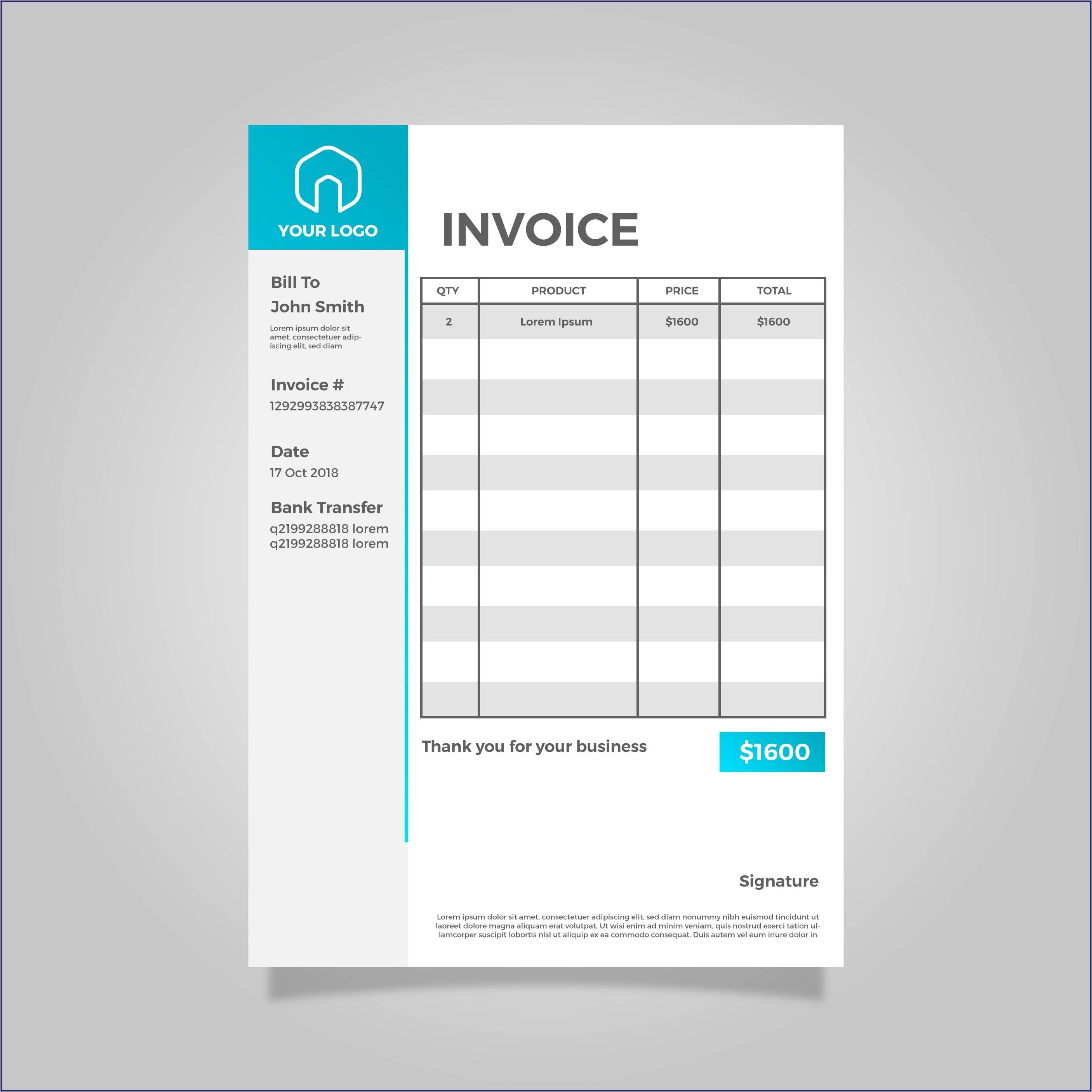 Minimalist Invoice Template Free