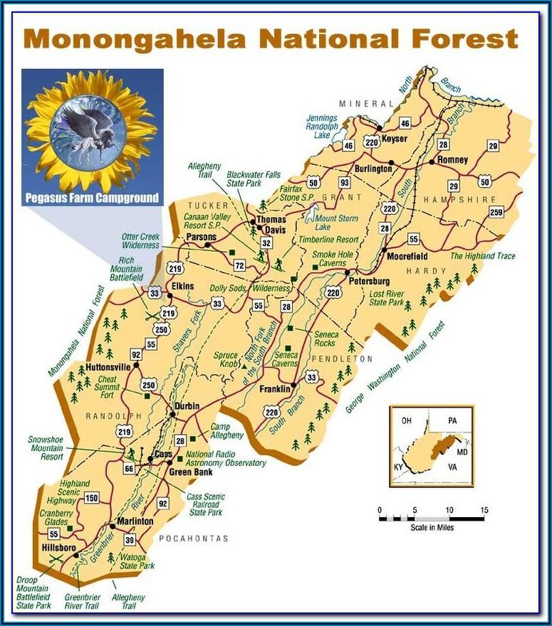 Monongahela National Forest Appalachian Trail Map