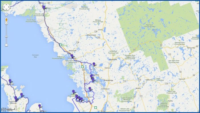 Motorcycle Touring Maps Canada