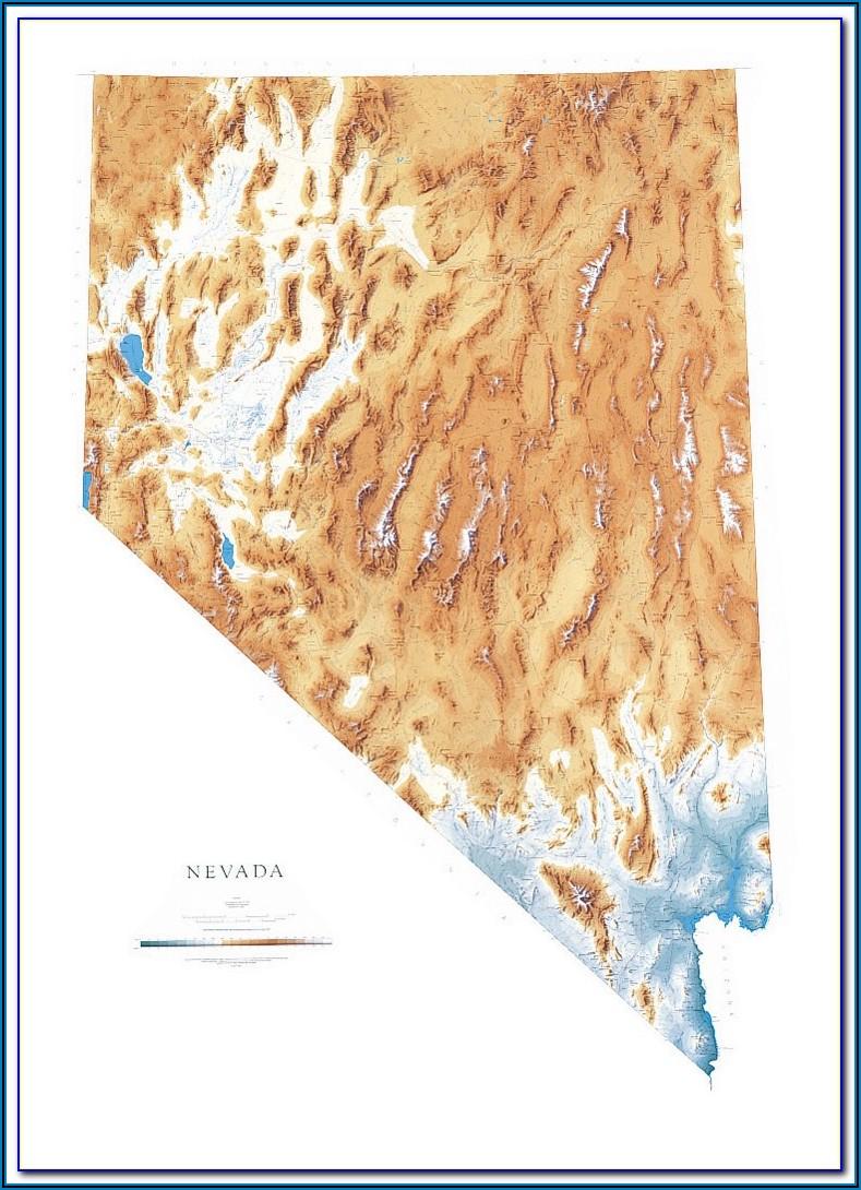 Nevada Raised Relief Map