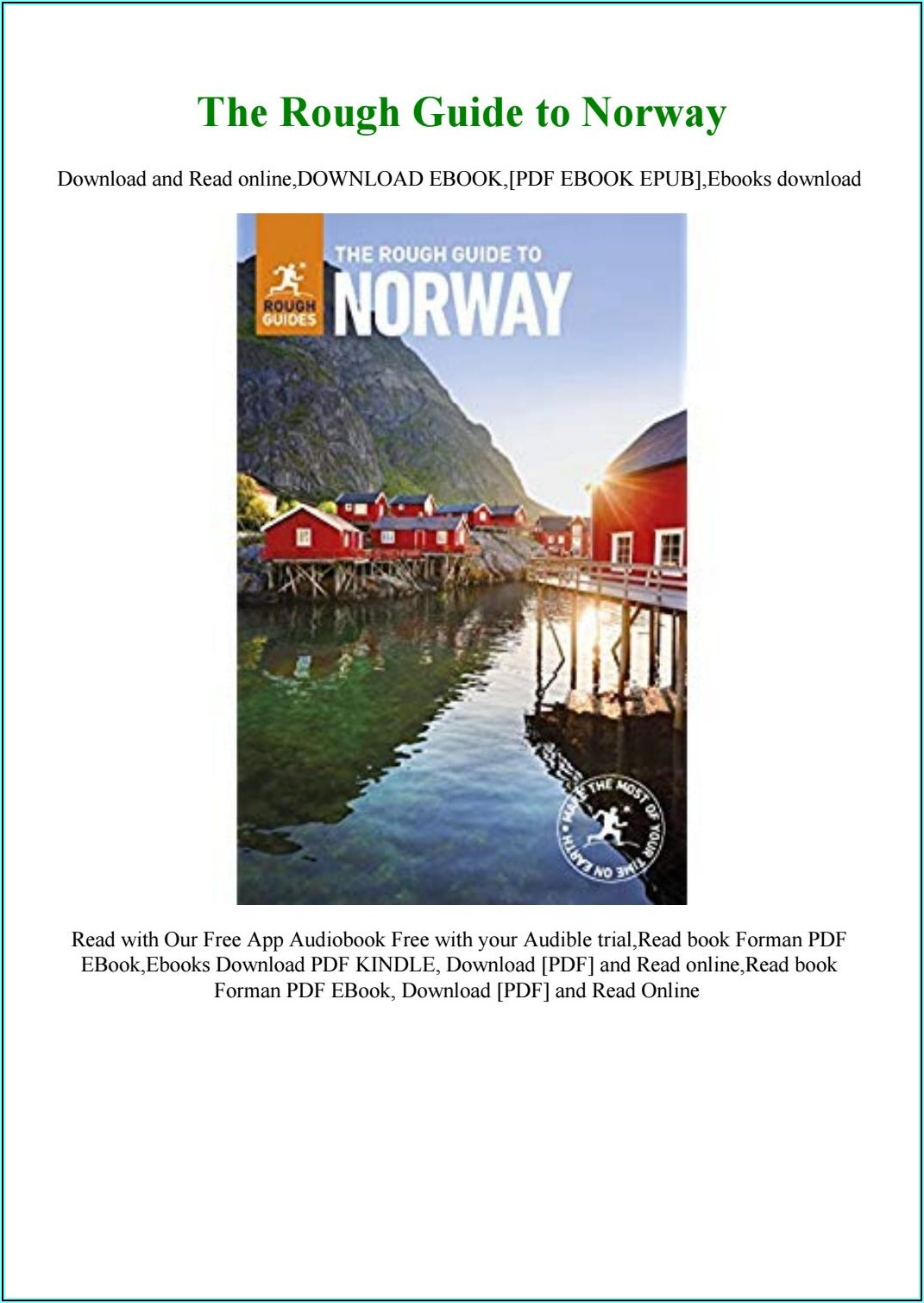 Norway Travel Brochure Pdf