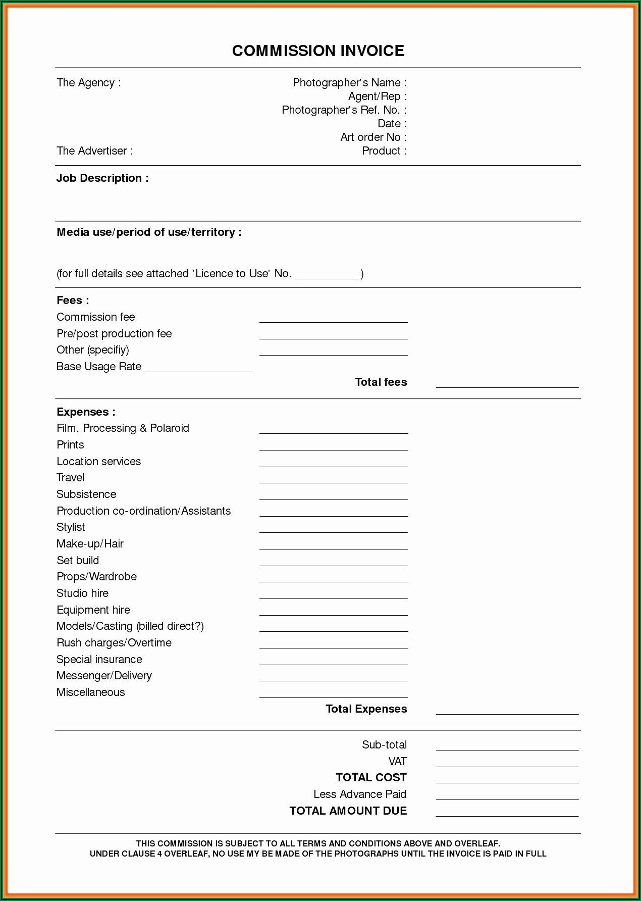 Notary Invoice Template Free