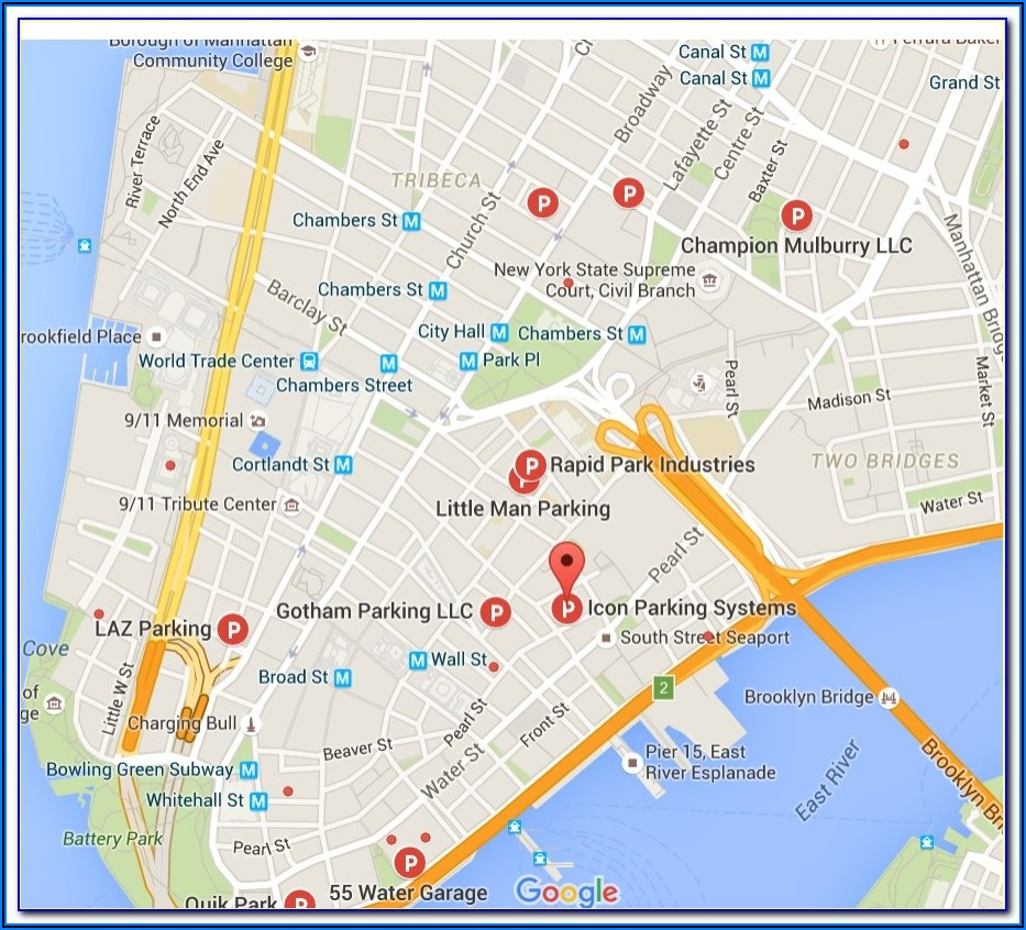 Nyc Parking Garages Map