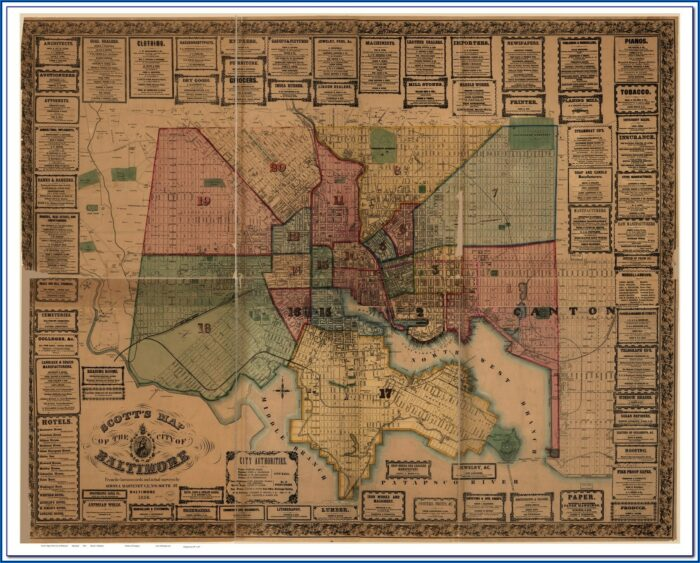 Old Baltimore County Maps