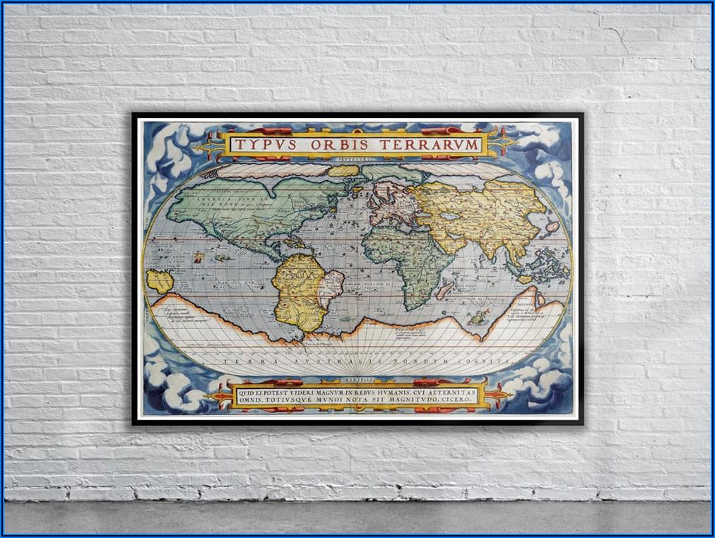 Ortelius World Map 1570