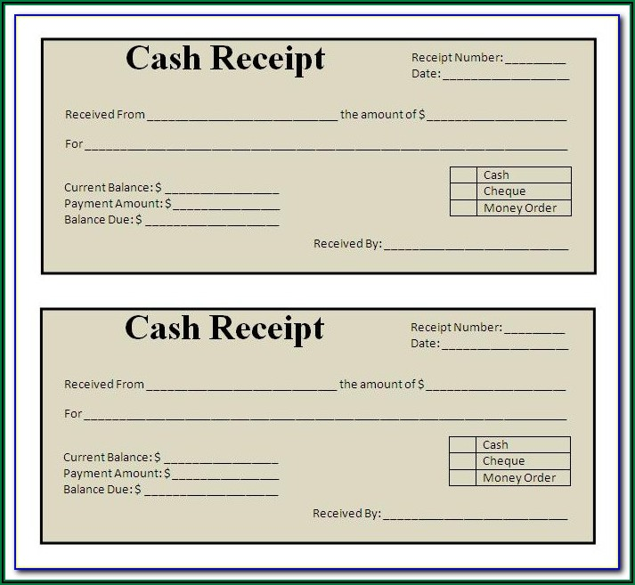 Payment Receipt Template Word Free