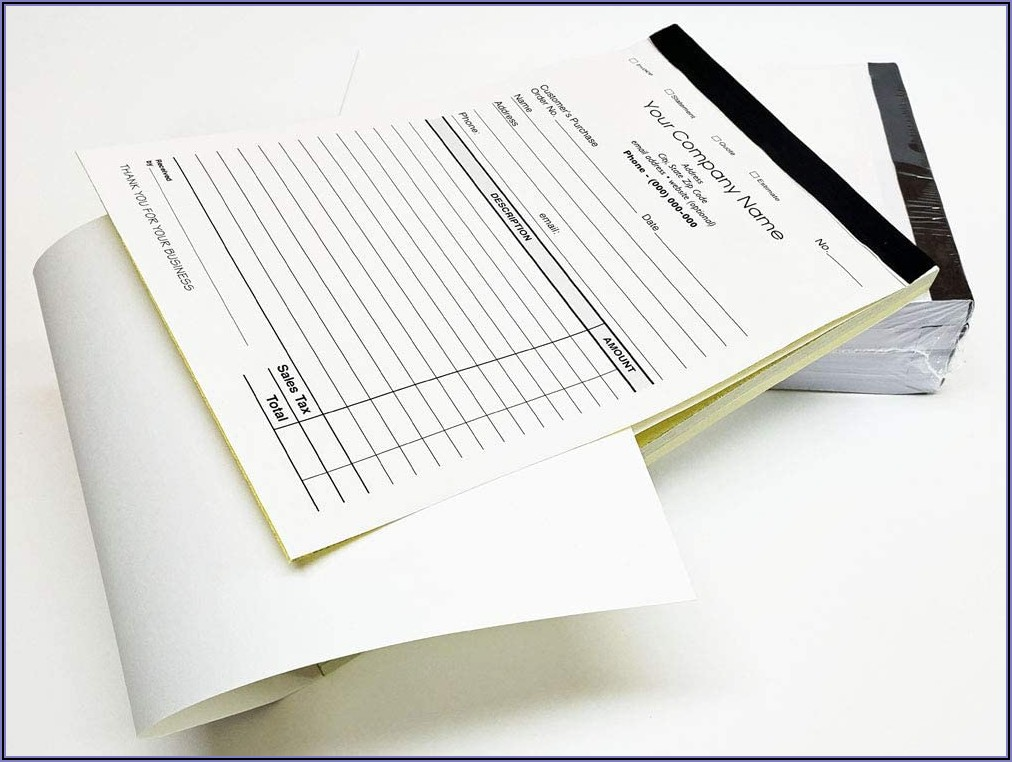 Personalized Carbonless Invoice Books