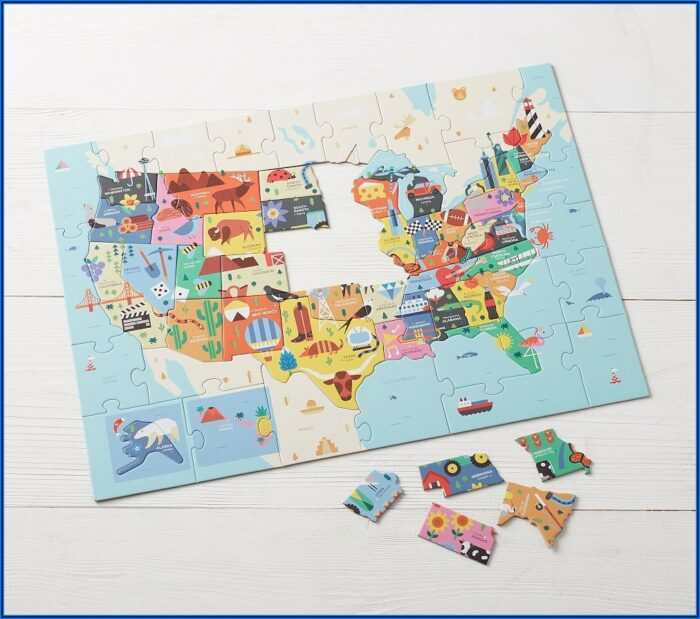 Pottery Barn World Map Puzzle
