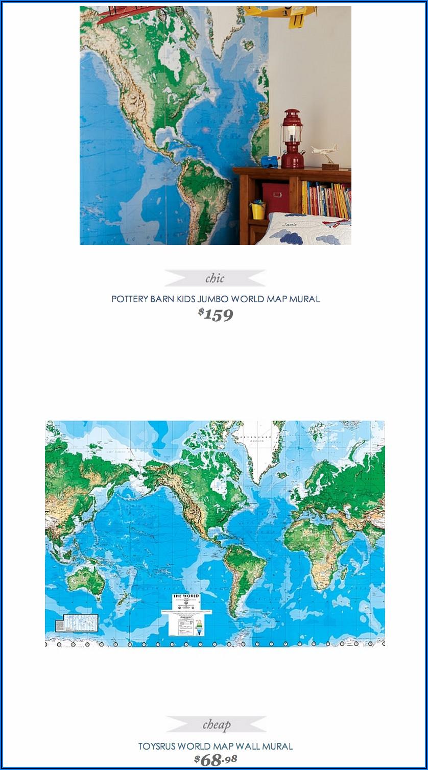 Pottery Barn World Map