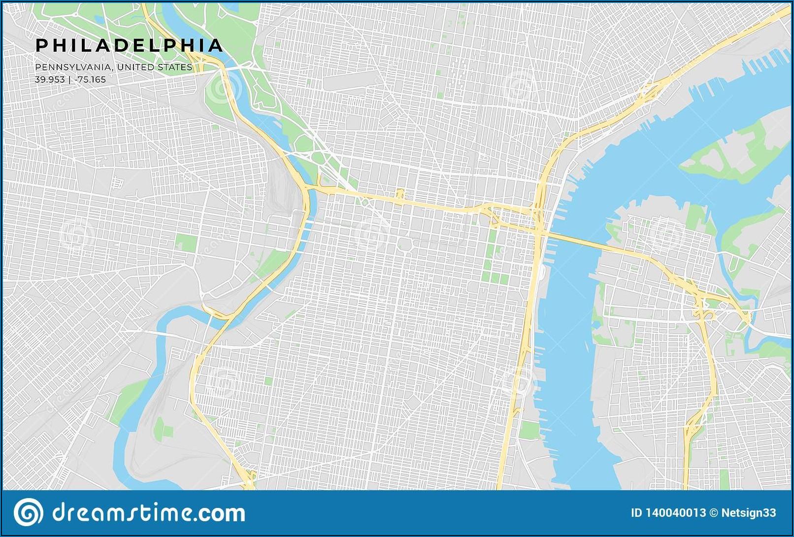 Printable Street Map Of Philadelphia