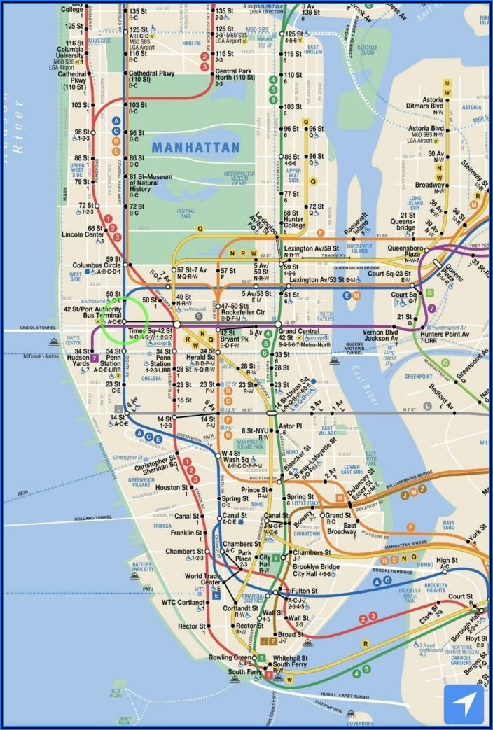 Printable Subway Map Of New York City