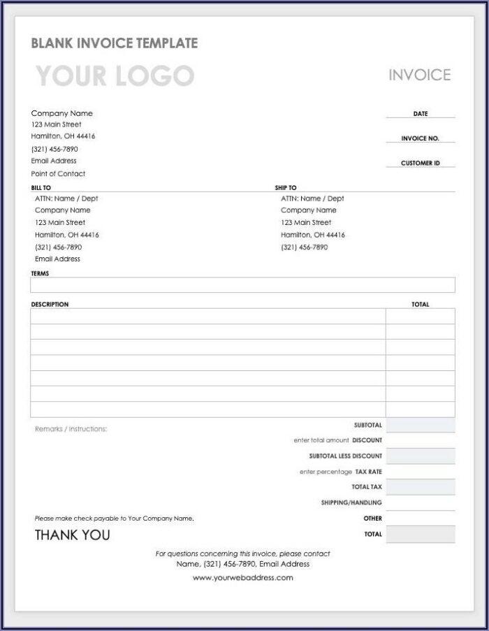 Proforma Invoice Template Word Document
