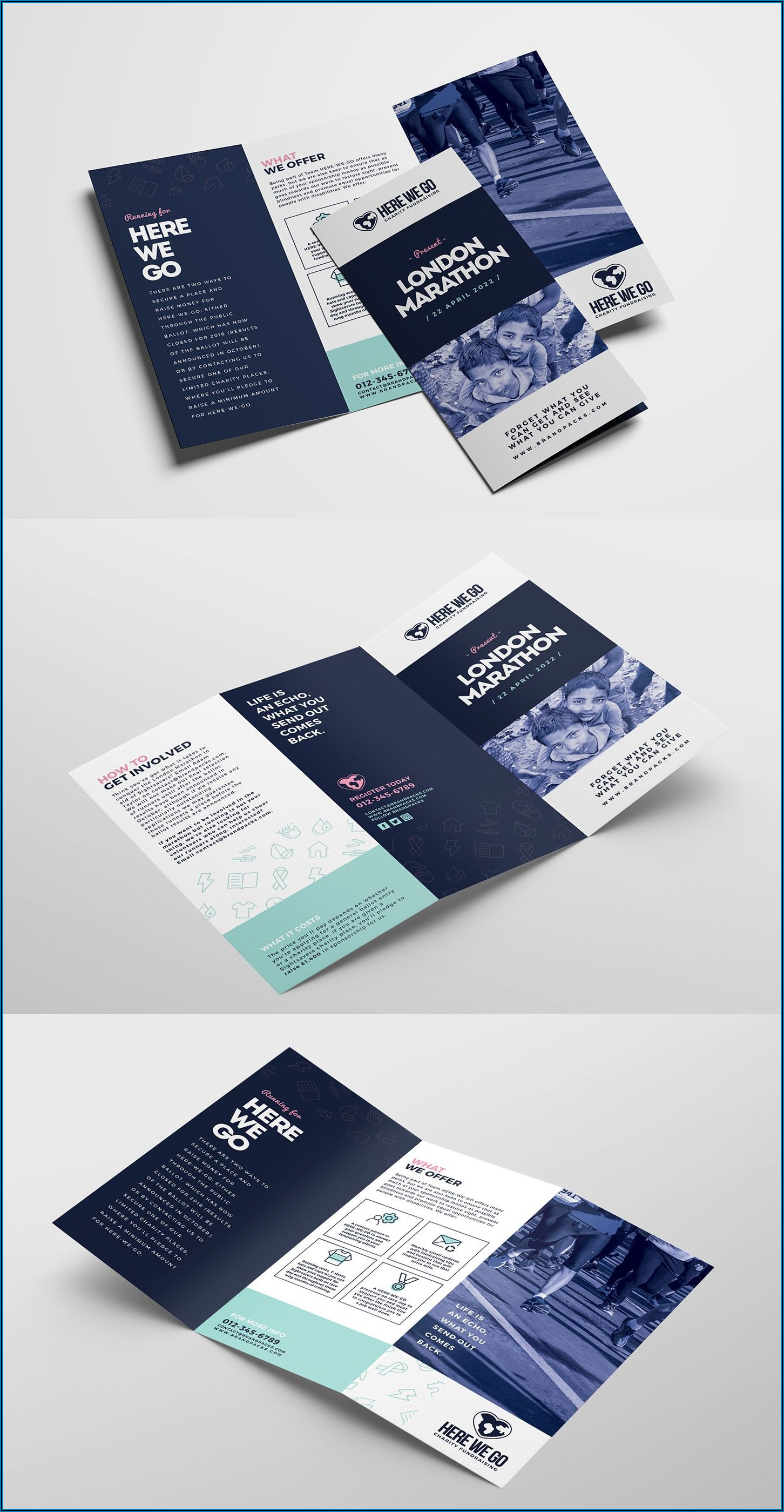 Quad Fold Brochure Template Indesign